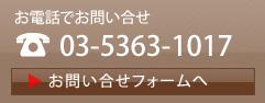 お電話でのお問い合せ 03-5363-1017